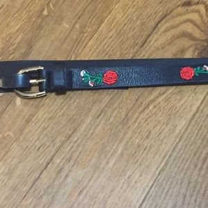 NWOT Torrid Faux Leather Belt with Floral Accents